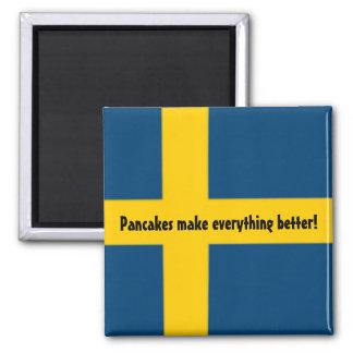 Imán sueco del refrigerador del tema de la bandera