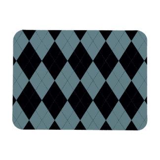 Imán superior azul claro y negro de Argyle Flexi