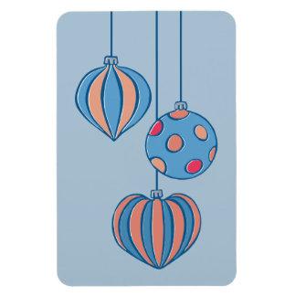 Imán superior azul de las bolas retras del navidad