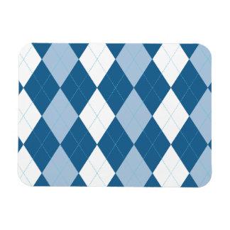 Imán superior azul y blanco de Argyle Flexi