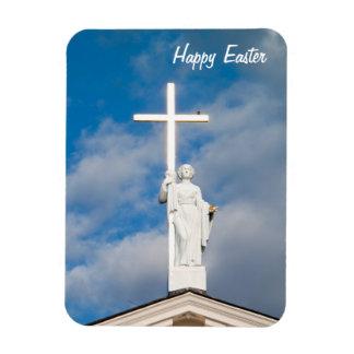 Imán superior cruzado feliz de Pascua