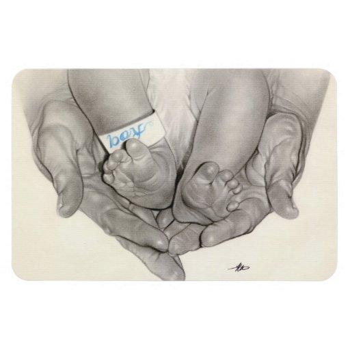 Imán superior de Flexi del bebé de las manos recié