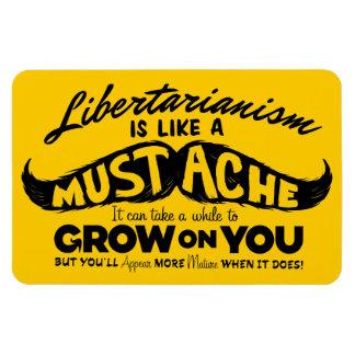 Imán superior de Flexi del bigote libertario