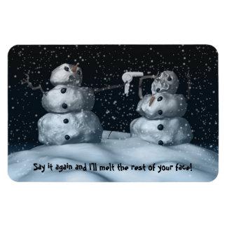 Imán superior de Flexi del muñeco de nieve malo