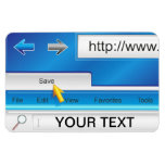 Imán superior de Flexi del navegador del Web page