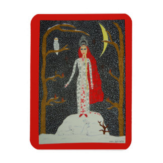 Imán superior virginal de la nieve (versión roja)