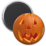 Imán tallado de Halloween de la calabaza