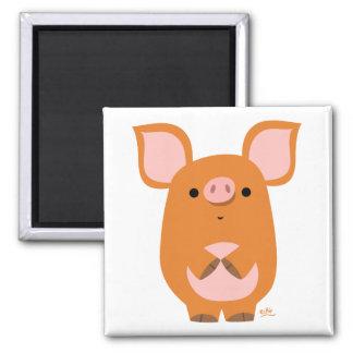 Imán tímido del personalizado del cerdo del dibujo
