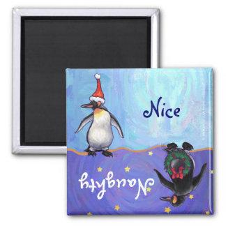 Imán travieso del día de fiesta del pingüino