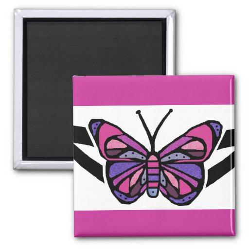 Imán tribal colorido de la mariposa