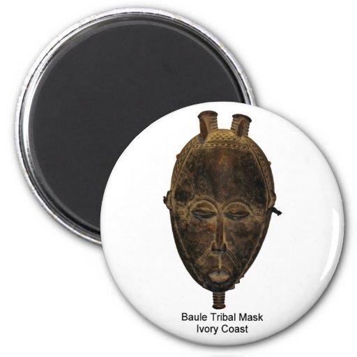 Imán tribal de la máscara de Baule