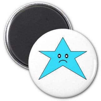 Imán triste azul de la estrella