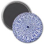 Imán turco azul y blanco del modelo de la teja