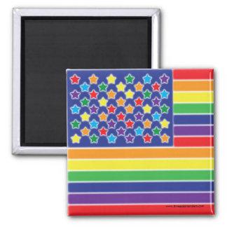 Imán Twinkly de la bandera del arco iris