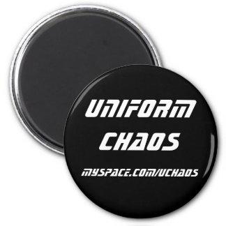 Imán uniforme del caos - blanco