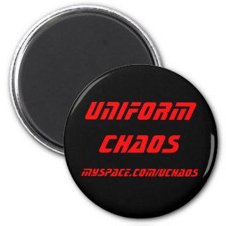 Imán uniforme del caos - rojo