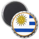 Imán uruguayo del casquillo de la cerveza