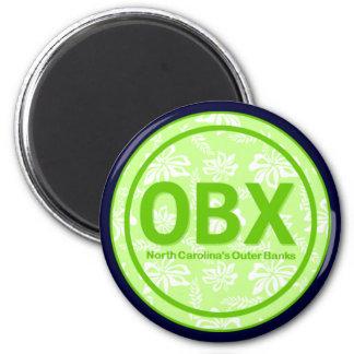 Imán verde de la flor de OBX Outer Banks NC