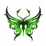 Imán verde de la mariposa escultura fotográfica
