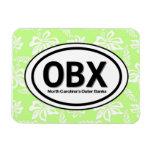 Imán verde de OBX Outer Banks NC