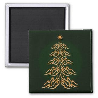 Imán verde del árbol de navidad de Bell