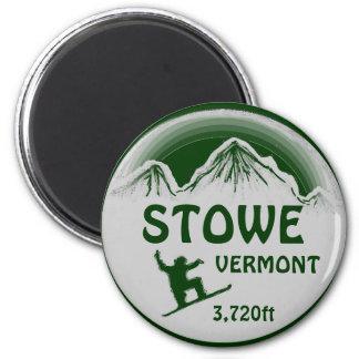 Imán verde del arte de la snowboard de Stowe Vermo