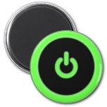 Imán verde del botón de encendido del ordenador