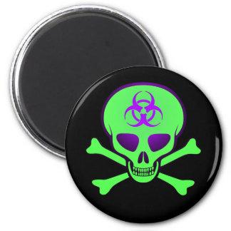 Imán verde del cráneo del Biohazard