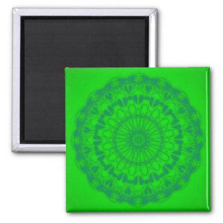 Imán verde del cuadrado del arte abstracto