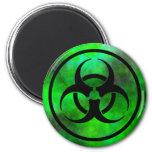 Imán verde del símbolo del Biohazard de la niebla
