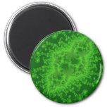 Imán verde eléctrico de las medusas