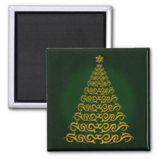 Imán verde elegante del árbol de navidad