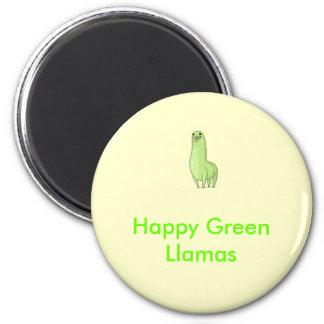 imán verde feliz de las llamas