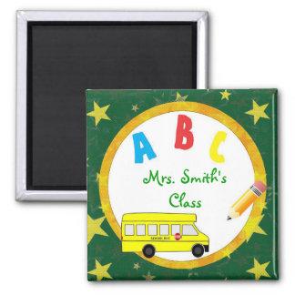 Imán verde oscuro D2 del profesor del autobús esco