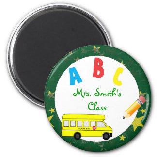 Imán verde oscuro del profesor del autobús escolar