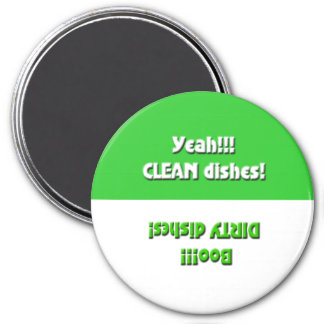 Imán verde sucio sí limpio/abucheo del lavaplatos