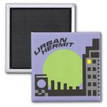 Imán (verde) urbano del refrigerador del ermitaño