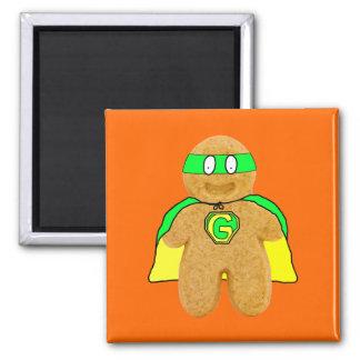 imán verde y amarillo del superhéroe del hombre de