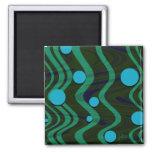 Imán veteado del verde azul de la onda del punto