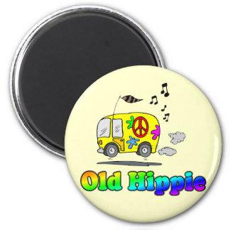Imán viejo del autobús del Hippie