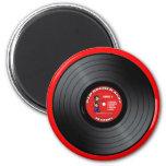 Imán viejo del disco de vinilo del tipo del eje de