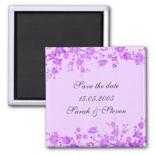 Imán violeta de la fecha de la reserva del flor de