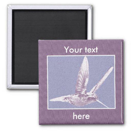 Imán violeta del colibrí