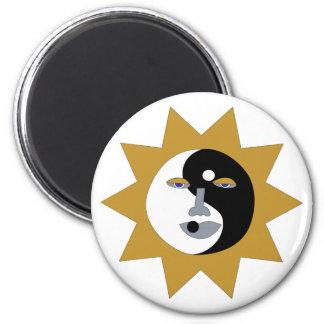 imán ying del sol de yang