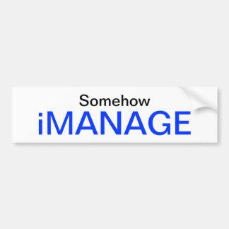 iMANAGE Bumpersticker Car Bumper Sticker