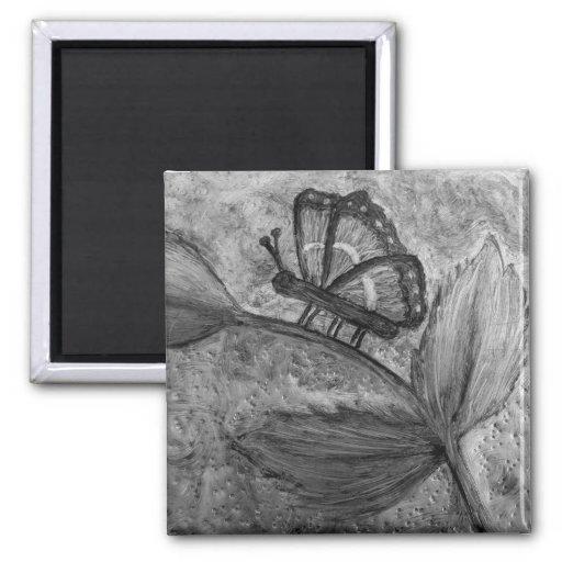 Imanes 2 del regalo del arte de Butterfly_Inspirat Imán De Frigorífico