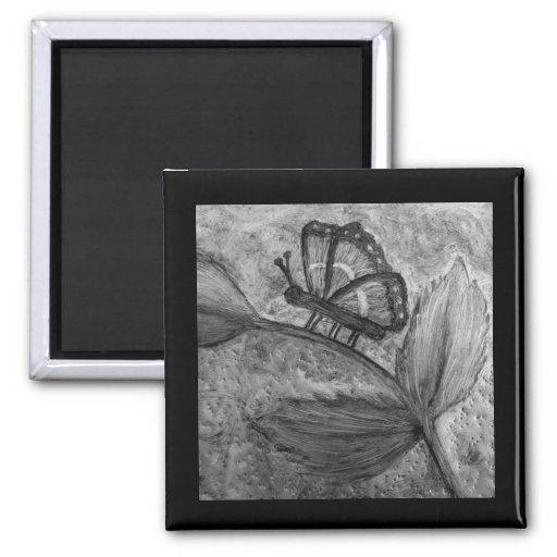 Imanes 3 del regalo del arte de Butterfly_Inspirat Imán Para Frigorífico