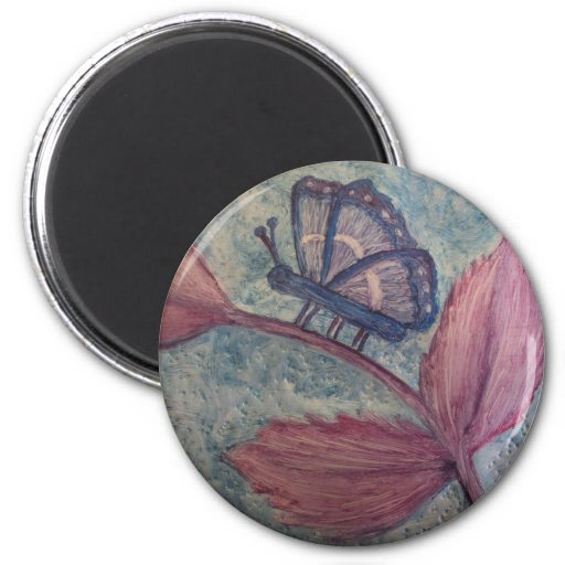 Imanes 4 del regalo del arte de Butterfly_Inspirat Iman