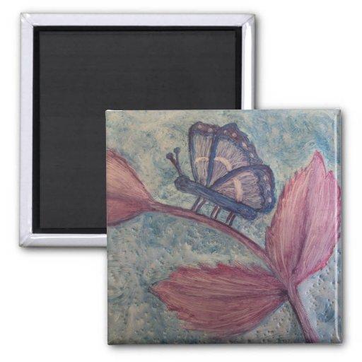 Imanes 5 del regalo del arte de Butterfly_Inspirat Iman De Nevera