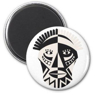 Imanes africanos de la máscara imán redondo 5 cm